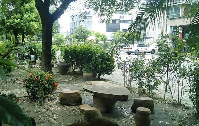 石桌泡茶區