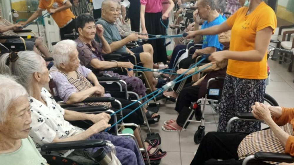 幸福院區-彈力帶伸展運動